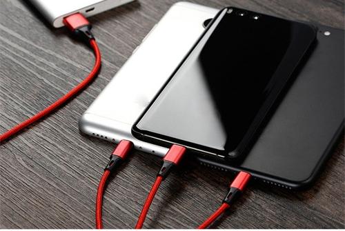 Hochwertige Nylon geflochten Typ-C Lightning Micro USB Datenkabel 3 in 1 Schnellladung Stabile Datenübertragung Ladekabel für iPhone X 8 Samsung Galaxy S9 S8 iOS Android Phone