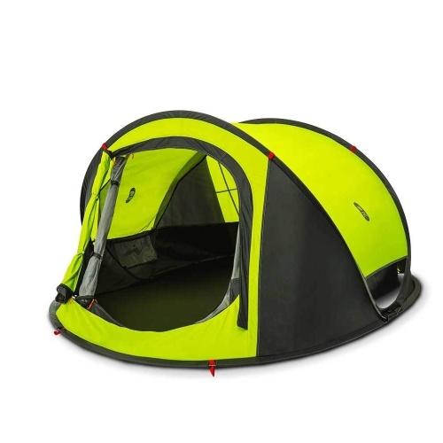 Xiaomi Zaofeng Наружные автоматические палатки Быстрое открытие для 3-4 пользователей Throw Tent Rainproof Moistureproof Быстрое открытие палатки Большое пространство для кемпинга Пешие прогулки фото