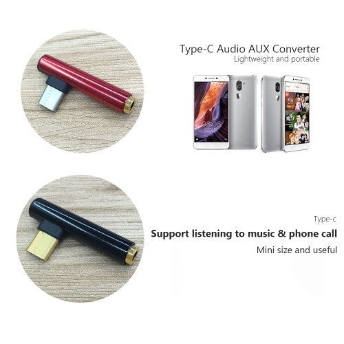 Mini Type-C Audio AUX Адаптер для адаптера адаптера с 3,5-миллиметровым разъемом для наушников для Samsung Galaxy S9 S8 Примечание 8 LG V30 G6 G5 OnePlus фото