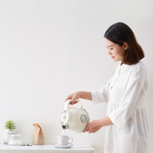 Xiaomi OCOOKER Retro Electric Kettle Stainless Steel Water Kettle with Watch Thermometer Display 1.7L 1800W 220V