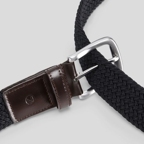 Xiaomi Qimian Men's CT3501 Leisure Sports 35mm Waistband Stretch Fabric Belt Men Belt Genuine Leather Alloy Buckle Elastic Fabric Sports Leisure Tactical Belt