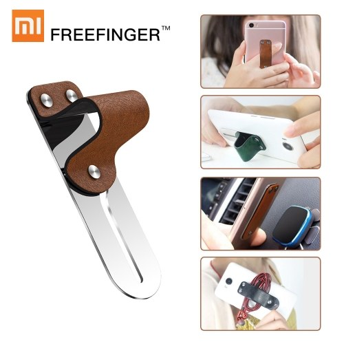 Xiaomi Freefinger Finger Ring Holder Leather Stainless Steel Mobile Phone Grip Car Phone Mount Stand For iPhone XS Max X 8 7 6 Huawei Samsung