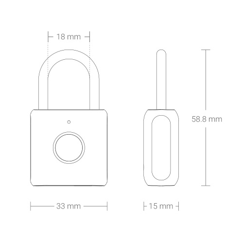 Xiaomi Youdian Kitty Smart Fingerprint Door Lock Padlock USB Charging Keyless Anti Theft Travel Luggage Drawer Safety Office Lock Quick Unlock