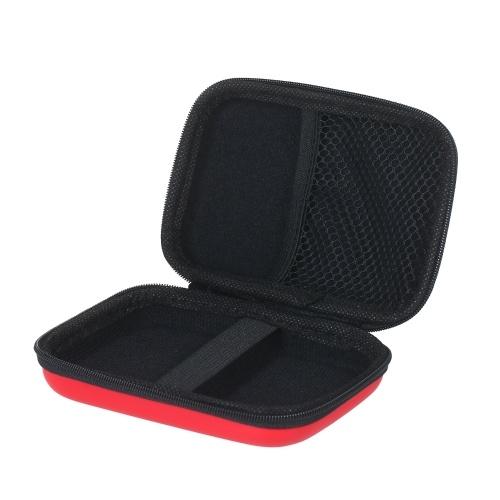 Чехол для наушников на молнии Портмоне для мини-ключей Сумка для хранения Сумка для переноски с сеткой на молнии Внутренний карман для мужчин и женщин фото