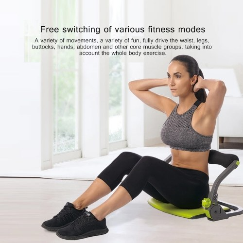 7th Ab Crunch Machine Abs and Total Body Workout Sit-Ups Fitness Abdominal Muscle Exercise Tools Foldable Portable Sport Machine for Strength Training Cardio Home Gym