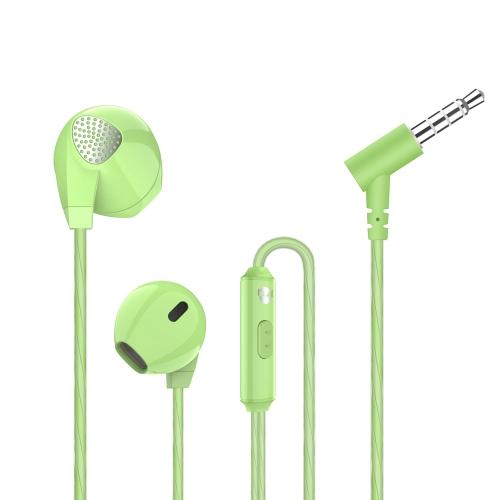 A3 Auscultadores de ouvido plano Fêmea de alta fidelidade dinâmica em fones de ouvido Auriculares de esportes sem fio Conector de 3,5 mm para iPhone X Samsung S8 Samsung Nota 8