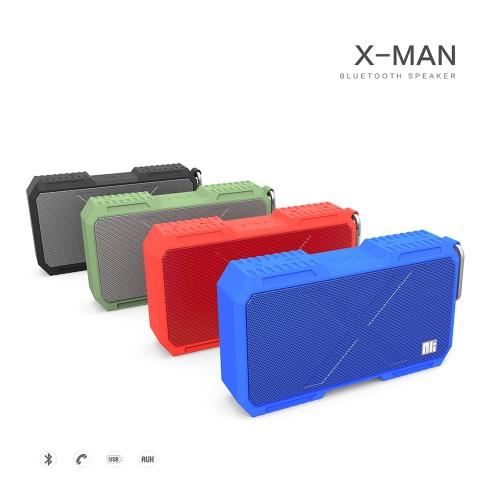 NILLKIN X-MAN BT Speaker IPX4 Waterproof Hands-free Answer Calls LED Indicator BT CSR4.0 5200mAh Long Battery Life Independent Cavity Design Hi-Fi Wireless Loudspeaker фото