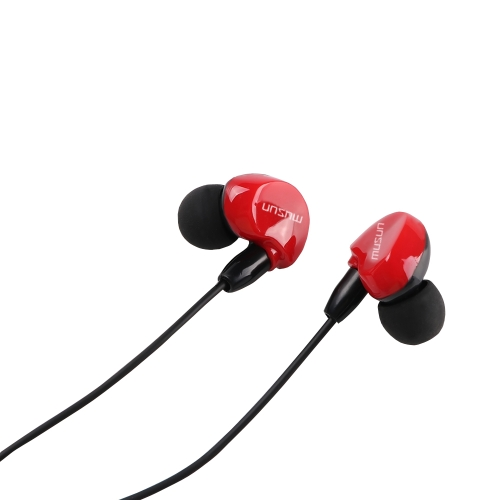 Musun E38 Universal In-ear Earphone 3.5mm Jack headset Design ergonômico Chamada mãos-livres com fio Earbud para Smartphones
