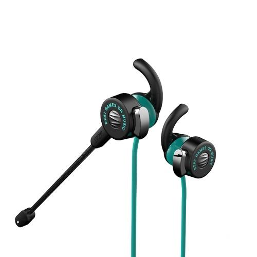 DZAT DF-20 Наушники-вкладыши с 3,5-миллиметровым микрофоном MEMS Спортивная музыка Стерео наушники