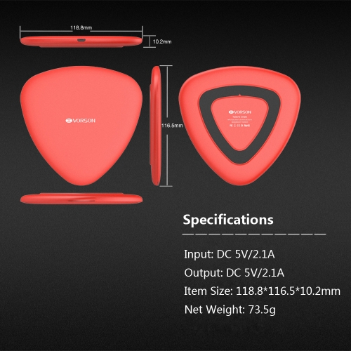 VORSON Triangle Qi Wireless Charger Intelligent Recognition