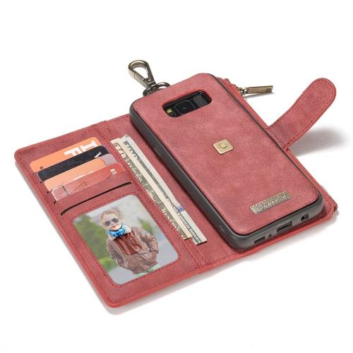 Image of CaseMe 009 Multifunktions-Geldbörse Phone Case Card-Slot Schutzhülle mit Metall Gürtelschnalle für 6,2 Zoll Samsung Galaxy S8 Plus umweltfreundliche stilvolle Tragbare Anti-Kratzer Anti-Staub Durable