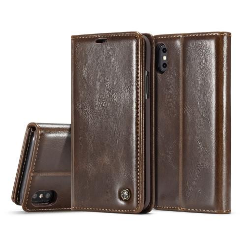 CaseMe Multi-fonction Téléphone Case Couverture PU En Cuir De Protection Shell Wallet Téléphone Case Flip Holster Transportant Carte Titulaire de la Carte pour iPhone X