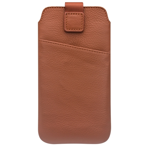 QIALINO Luxury Double Layer Leather Phone Sleeve Bolsa de capa Pouch Pull Tab Pouch Slot de cartão para iPhone X Smartphone