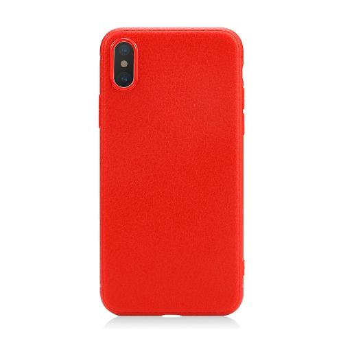 FSHANG Luxo Litchi Grain Soft TPU Phone Case Back Shell Cover para Apple iPhone X Case com Pacote de Varejo