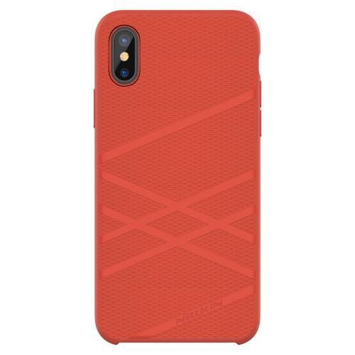 NILLKIN Flex Case Caso de silicone líquido para iPhone X Anti-scratch Anti-choque Anti-dirt Caso de telefone ultra fino para iPhone X