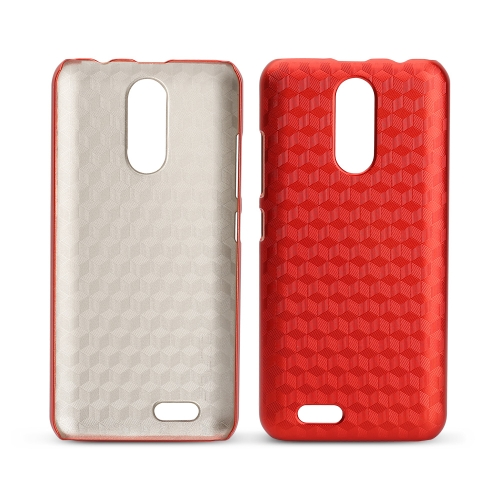 OCUBE Rhombic Lattice Phone Case para 5.5 polegadas OUKITEL C8 Hard Plastic Protective Phone Cover Anti-scratch Anti-choque