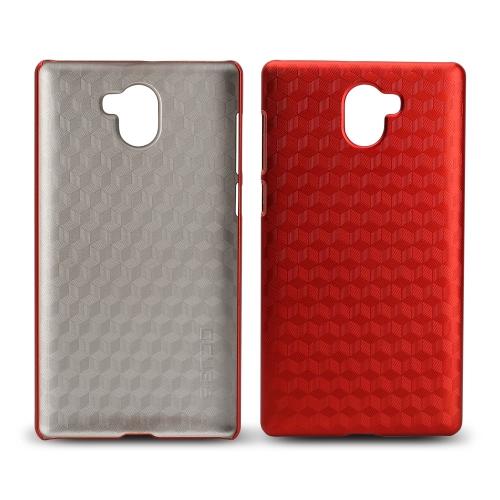 OCUBE Rhombic Lattice Phone Case para LEAGOO KIICAA MIX Hard Plastic Protective Phone Cover Anti-scratch Anti-choque