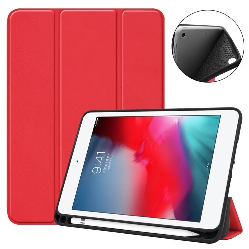 Tablet Cover Scratch-Free Microfiber Auto Sleep/Wake Function Full Protection Magnetic Case for iPad mini 4