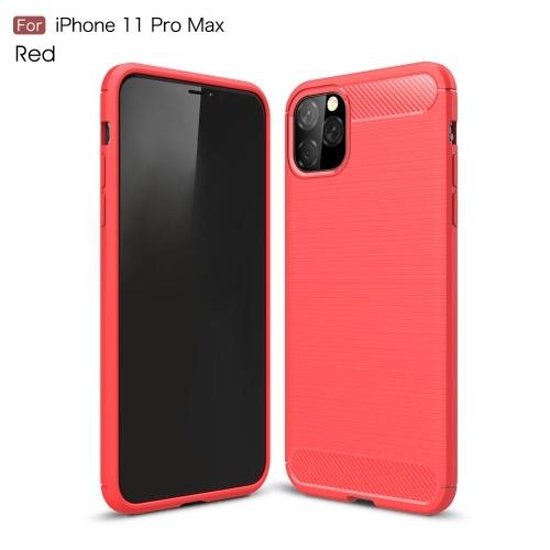 TPU Carbon Telefon Schutzhülle Anti Fingerabdrücke Anti Scratch Telefon Schutzhülle Shell Kompatibel mit iPhone 11 Pro Max