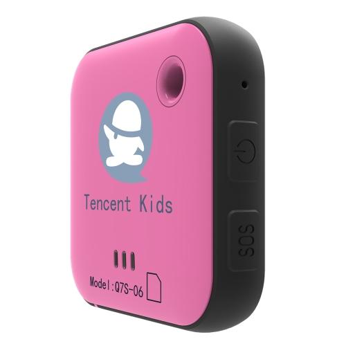 Tencent Kids Locator Q7S-06 Mini GPS portátil Tracker SOS Button GEO-Fence Alarm GPS LBS WiFi 3 maneiras de posicionamento preciso para crianças Elders Pets