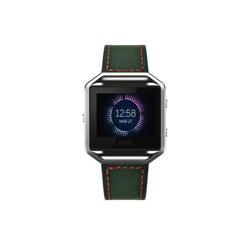 [Sans cadre] Pull-up Bracelet de bracelet en cuir véritable de remplacement pour Fitbit Blaze Fitness Smart Watch