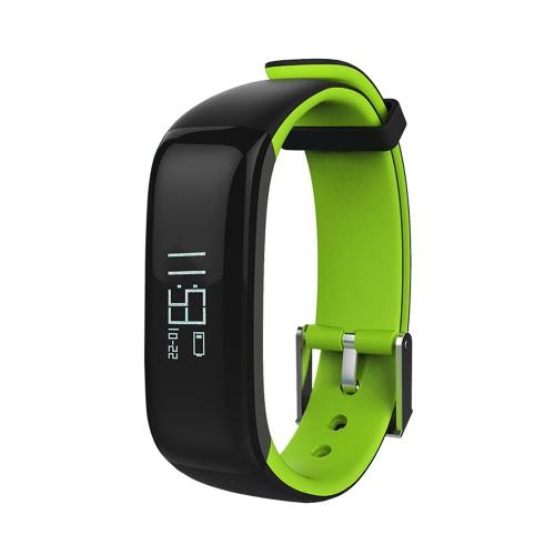 P1 Health Smart Band Sports Monitor de pressão sanguínea de banda cardíaca IP67 Pedômetro BT impermeável Monitor de sono de calorias Chamada de massagem Recorde pulseira inteligente para iPhone 6 7 Plus Samsung S6 S7 Edge Android iOS Smartphone