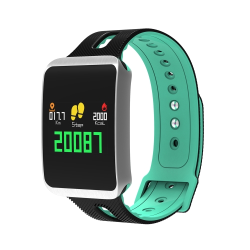 TF1 Смарт-группа OLED Сенсорный экран Движение сердечного ритма Кровяное давление Мониторинг сна Smart Bracelet Calls & Apps Reminder 100mAh Долговечная батарея