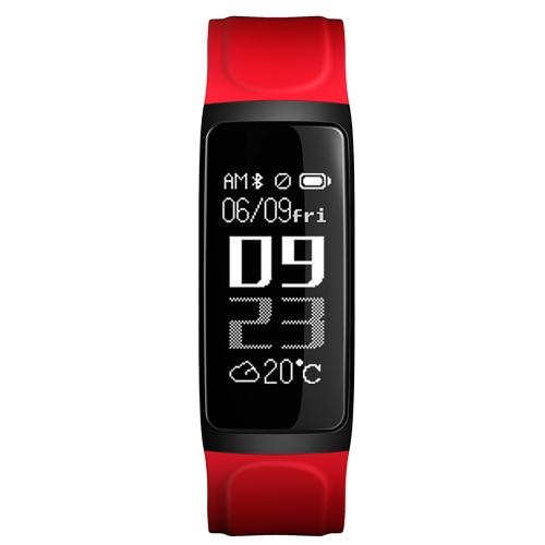 C7 Smart Band Visor de 0,96 polegadas Operação de toque Chamar Rejeitar Modo de exercício Freqüência cardíaca Monitor de sono Mensagens Relatórios Relatório de clima Despertador Pulseira inteligente