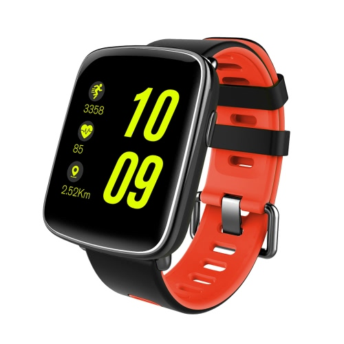 GV68 Heart Rate Smart BT Sport Watch Zegarek na rękę z bransoletą Powiadomienie o telefonie Pedometer Alarm Sleep Monitor dla telefonu iPhone 7 Plus Samsung S8 + na Android iOS