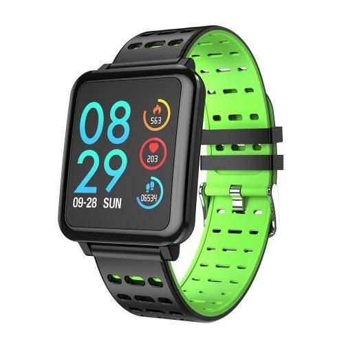 T2 Smart Watch Schermo colorato da 1,3 pollici 240 * 240 Pixel BT4.0 Monitoraggio della frequenza cardiaca Monitoraggio della pressione sanguigna Fitness IP67 Impermeabile Moda Sport Uomo Donna Smartwatch per iOS / Android