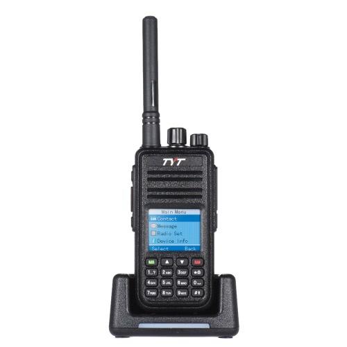 Held TYT MD-380 DTMF DMR Digital ricetrasmettitore mobile a 2 vie Radio Walkie Talkie LCD a colori dello schermo UHF FM digitale segnale analogico VOX CTCSS / DCS retroilluminazione a LED Scan allarme a mano con supporto di ricarica