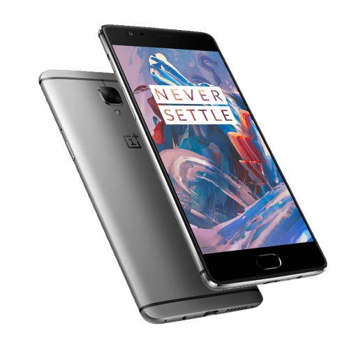 OnePlus 3 Drei dunkle Anzeige 4G LTE 3G WCDMA Smartphone Android 6.0 H2 OS 1.4 OS Qualcomm Snapdragon 820 64-Bit-Quad-Core 5.5
