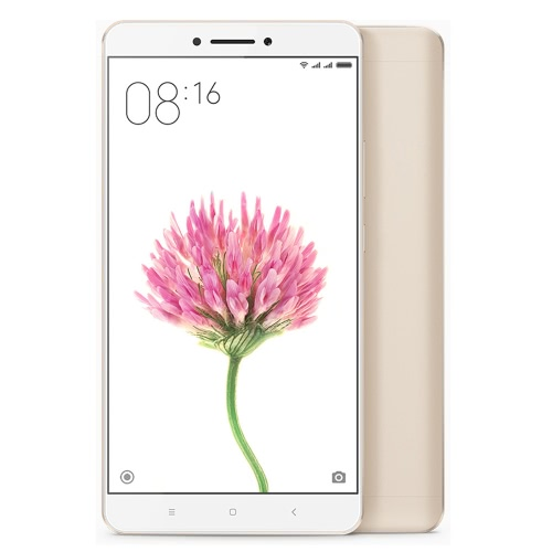 Original Xiaomi Max 4G Smartphone 6.44inch Big Screen Display 1920*1080P Snapdragon 650 Hexa Core 1.8GHz CPU 3GB RAM 32GB ROM 16.0MP Camera 4850mAh Large Battery Dual SIM Card Fingerprint ID Mobile Phone