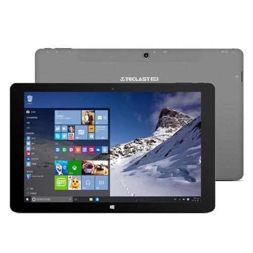 TECLAST Tbook 11 Tablet PC 10.6inch IPS Full HD Screen Display 1920*1080px Intel Cherry Trai Atom X5-Z8300 Processor Windows 10 / Android 5.1 Dual Operation System 4GB LPDDR3+64GB eMMC 0.2MP Dual Cameras Built-in 7500mAh Battery Bluetooth 4.0 WiFi Mic Tablet Computer