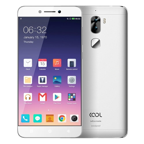 Letv Cool 1 dual LeEco 4G LTE Smartphone 5.5inch FHD Screen 1920*1080px Snapdragon 652 Octa Core 64Bit Processor 1.8GHz Android 6.0 OS 3GB RAM 32GB ROM 13.0MP+8.0MP Dual Camera 4060mAh Battery Dual Standby Fingerprint ID GPS Type-C Mobile Phone