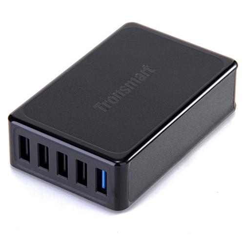 Tronsmart TS-UC5PC inteligente de identificação inteligente de IC 5-Port USB carregador de secretária adaptador 1 Qualcomm certificada Porto de carga rápida 2.0 + 4 portas Smart alimentação para Apple Samsung Smartphone