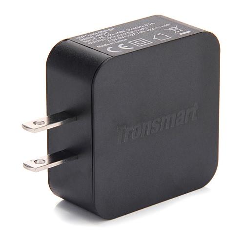 Qualcomm certificada carga rápida 3.0 porto Tronsmart WC1T USB adaptador de carregador de parede inteligente 2.0 + Micro USB cabo de alimentação para Samsung Smartphone