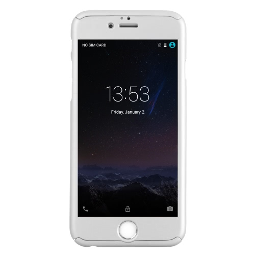 KKMOON 360 ° All-redonda Proteção Slim caso durável tampa Shell com tela de vidro temperado Film Protector para iPhone 6 6S