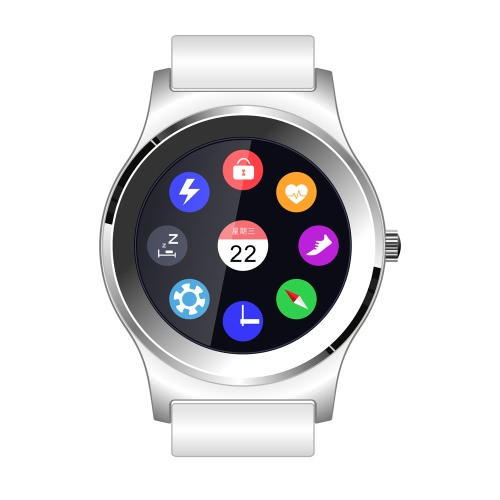NEECOO V3 relógio inteligente Tela MTK2502C 1.3inch com couro genuíno para BT 4.0 Acima Smartphone Heart Rate Monitor pedômetro Music Control Play Music UI mutável