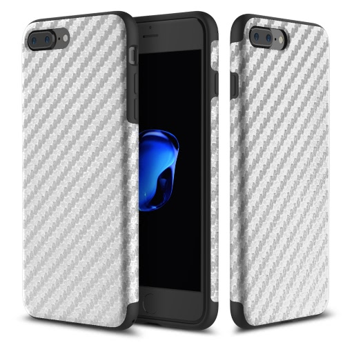 Fibra de Carbono ROCHA Grain TPU Phone Case 360 graus Proteger telefone tampa da caixa Soft Shell de protecção de alta qualidade para o iPhone 7 Plus 5.5inch