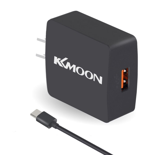 KKmoon K6 Charge Suit Charger Plug Charger Adapter QC3.0 + Micro USB Cable