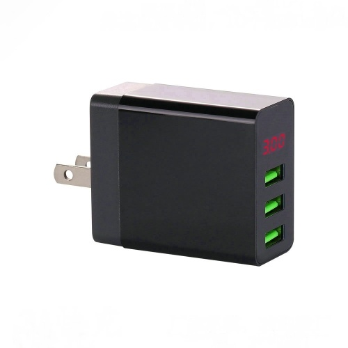 LED Display 3 USB Charger Universal Mobile Phone USB Charger Fast Charging Wall Charger