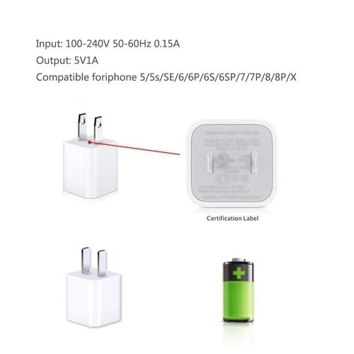 Original Apple Plug Charging Adapter for Apple iPhone 6S 6 Plus SE 5S 5 iPad