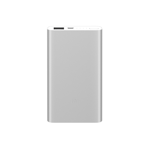 Oryginalny Xiaomi Power Bank 2 5000mAh Ultra Thin Portable Power Station Aluminiowa metalowa obudowa Szybkie ładowanie dla iPhone'a X 8 Plus Samsung Smartfony