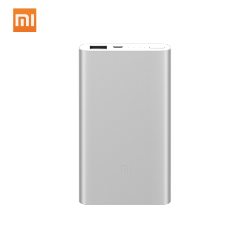 Power portatile ultra sottile originale Xiaomi Power Bank 2 5000mAh (argento)