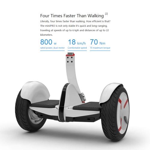 xiaomi ninebot minipro smart electric scooter balance car us plug (black)
