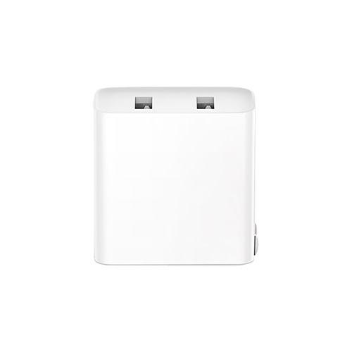 Caricabatterie USB Xiaomi (2 Porte) QC3.0 Ricarica rapida Caricabatterie veloce US Plug (Bianco)