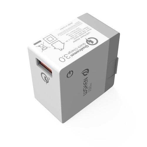 Caricatore USB Smart Charger WSKEN 5V 3A Caricabatteria da muro US 1 Porta da viaggio Caricabatterie Caricabatterie rapido per iPhone X 8 7 Samsung Galaxy S7 S6