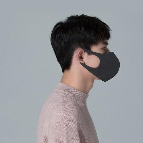 3PCS Xiaomi Smartmi Anti-Pollution Air Sport Face Mask Respirators Block PM2.5 Haze Anti-haze Adjustable Ear Hanging 3D Design Comfortable with Ventilating Valve
