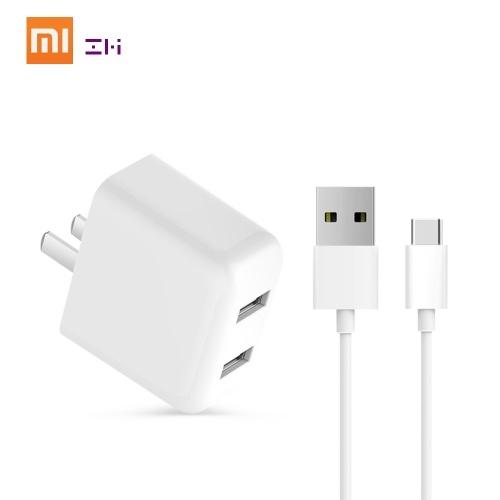 Xiaomi ZMI Dual USB Charger US QC 3.0 Adattatore di alimentazione Tipo C Cavo di ricarica Presa adattatore